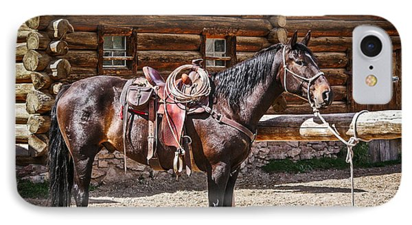Saddled And Waiting IPhone Case