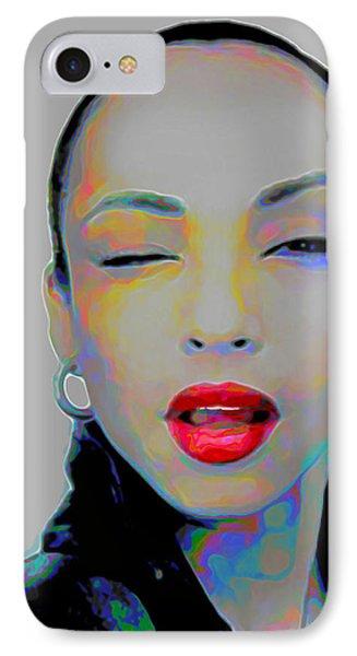 Rhythm And Blues iPhone 7 Case - Sade 3 by Fli Art