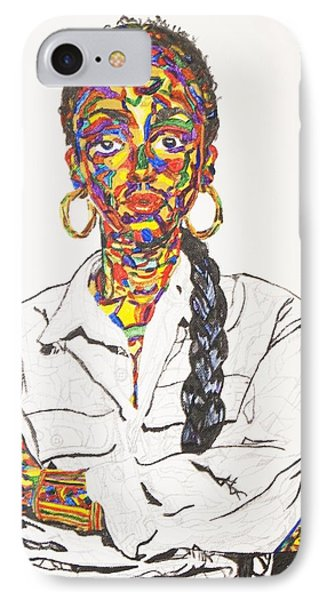 IPhone Case featuring the painting Abstract Sade  by Stormm Bradshaw
