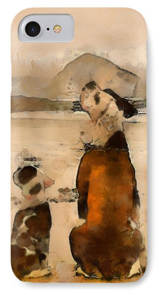 IPhone Case featuring the painting Sadness  by Georgi Dimitrov