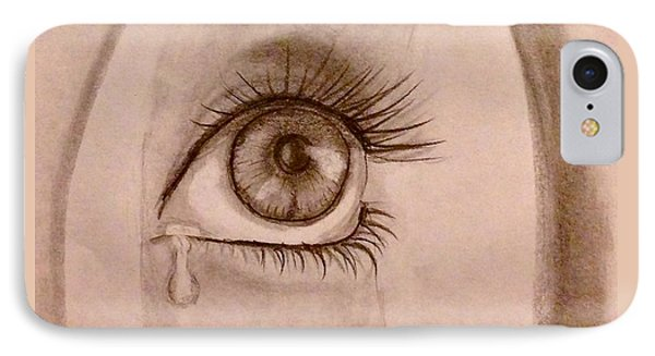 Sadness In The Eye IPhone Case by Bozena Zajaczkowska