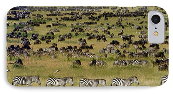 Safari Animals Migration, Serengeti IPhone Case by Panoramic Images