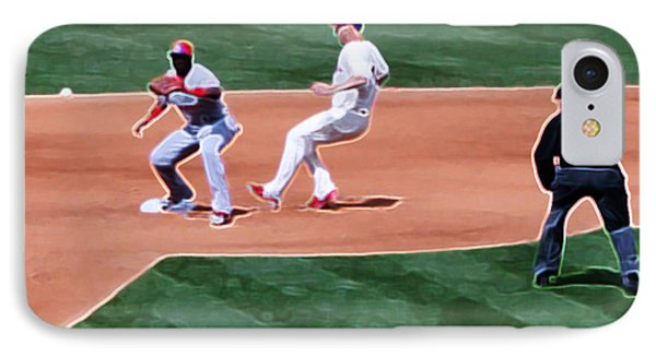 Safe At Second Base Phone Case by Terry Weaver