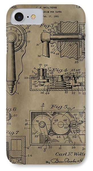 Safe Lock Patent IPhone Case by Dan Sproul