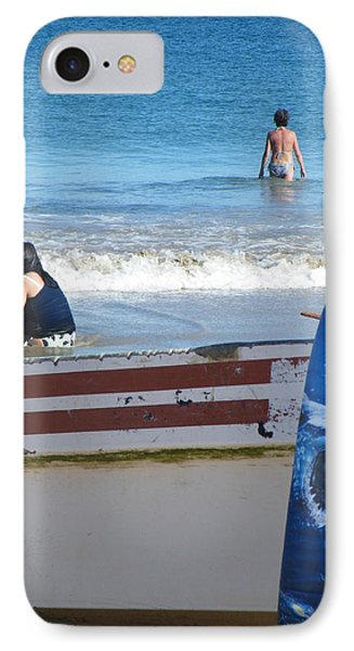IPhone Case featuring the photograph Safe To Go In The Water by Brian Boyle