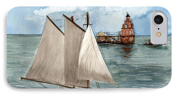 IPhone Case featuring the painting Safely Past The Shoal  by Nancy Patterson
