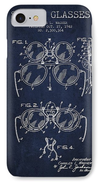 Safety Glasses Patent From 1942 - Navy Blue IPhone Case