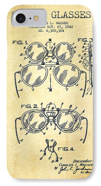 Safety Glasses Patent From 1942 - Vintage IPhone Case