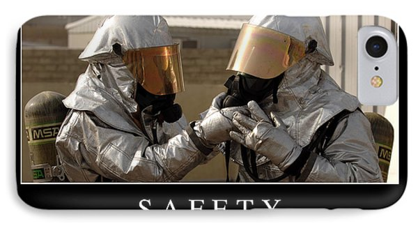 Safety Inspirational Quote Phone Case by Stocktrek Images