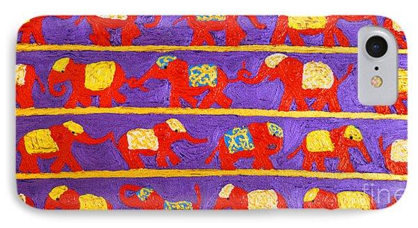 Saffron Elephants IPhone Case by Cassandra Buckley