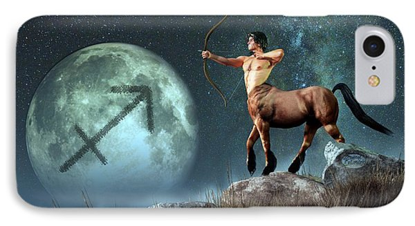 Sagittarius Zodiac Symbol IPhone Case by Daniel Eskridge