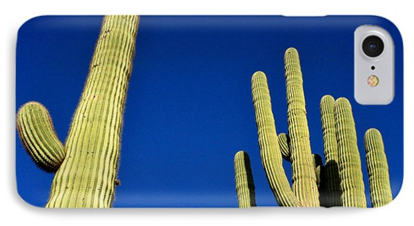 IPhone Case featuring the photograph Saguaro National Forest Tucson Az by Diane Lent