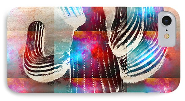 Saguaro Rainbow Collage IPhone Case by Robert R Splashy Art Abstract Paintings