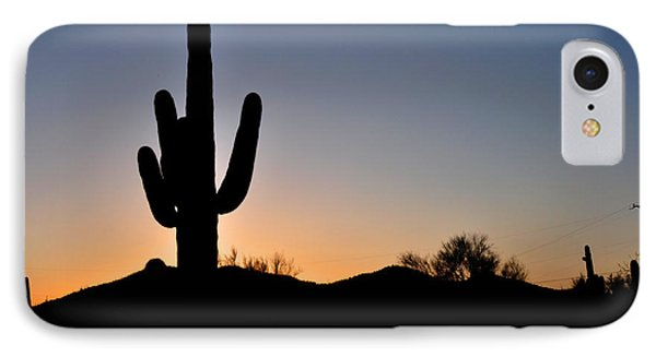 Saguaro Sunset IPhone Case by Diane Lent