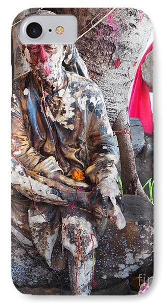 Sai Baba - Resting At Pushkar Phone Case by Agnieszka Ledwon