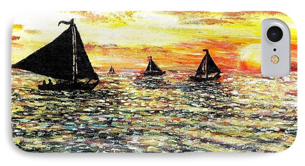 IPhone Case featuring the painting Sail Away With Me by Shana Rowe Jackson