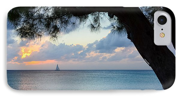 Sail Into The Sunset Phone Case by Karen English