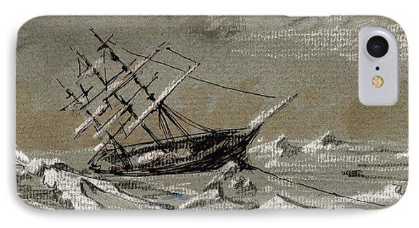 Sail Ship Arctic IPhone Case by Juan  Bosco