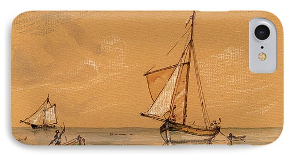Sail Ship IPhone Case by Juan  Bosco