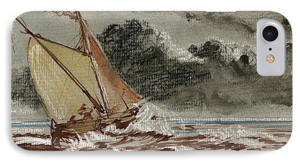 Sail Ship Stormy Sea IPhone Case