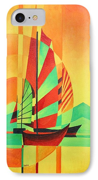 IPhone Case featuring the painting Sail To Shore by Tracey Harrington-Simpson