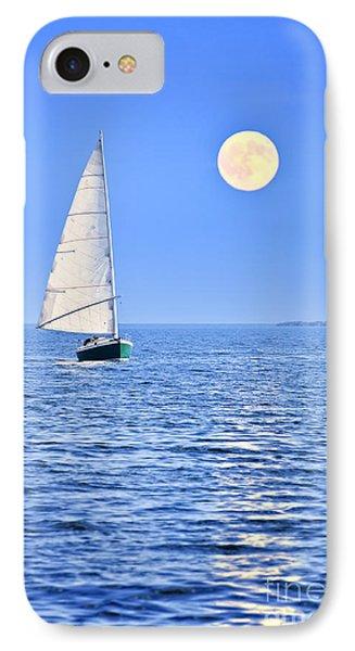 Sailboat At Full Moon IPhone 7 Case