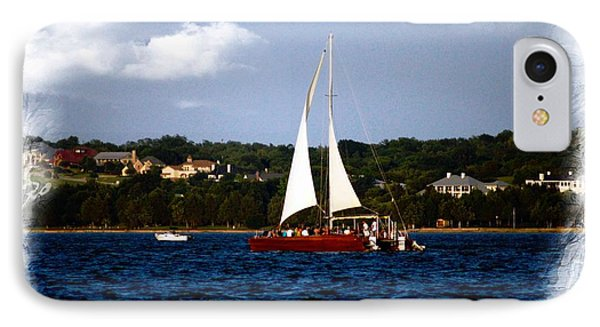 IPhone Case featuring the photograph Sailboat At Lake Ray Hubbard by Kathy Churchman