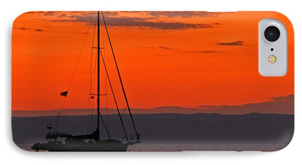 Sailboat At Sunset IPhone Case by Marcia Socolik