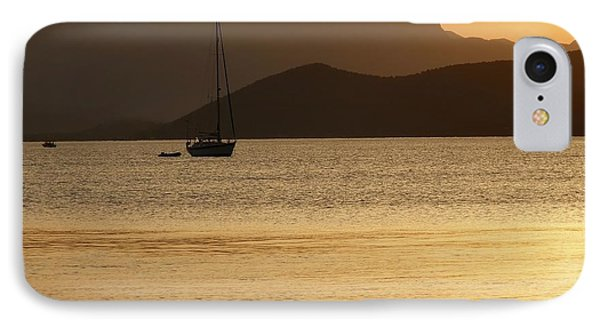 Sailboat At Sunset Phone Case by Sophie Vigneault