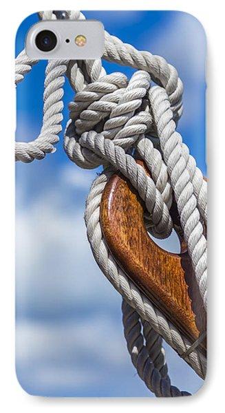 Sailboat Deadeye 3 IPhone Case by Leigh Anne Meeks