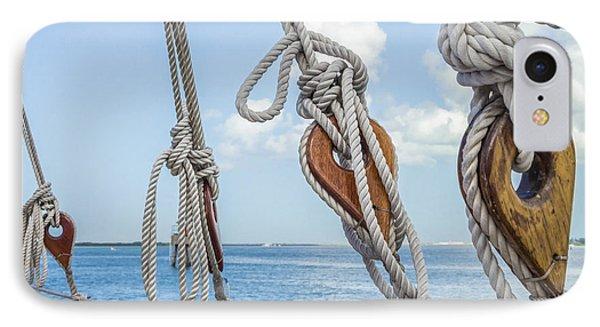 Sailboat Deadeyes 2 IPhone Case by Leigh Anne Meeks