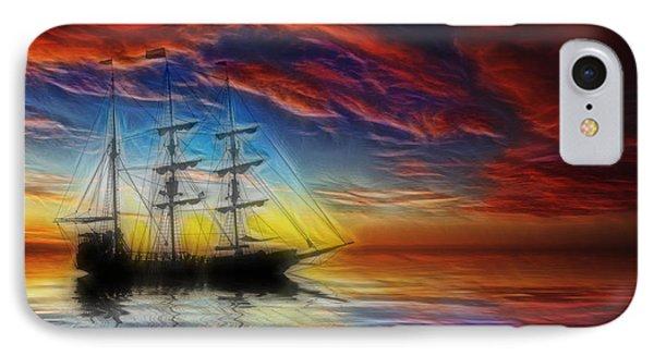 Sailboat Fractal Phone Case by Shane Bechler