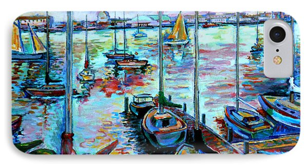 Sailboat Harbor IPhone Case by Stan Esson