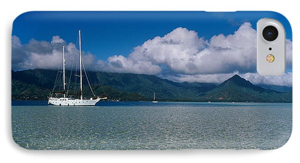 Sailboat In A Bay, Kaneohe Bay, Oahu IPhone Case