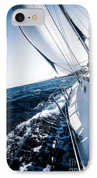 Sailboat In Action IPhone Case