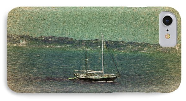 Sailboat In Bay IPhone Case by Terry Cork