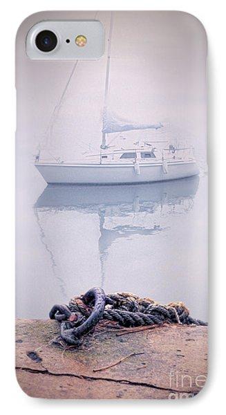 Sailboat In Fog Phone Case by Jill Battaglia