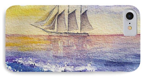 Sailboat In The Ocean Phone Case by Irina Sztukowski