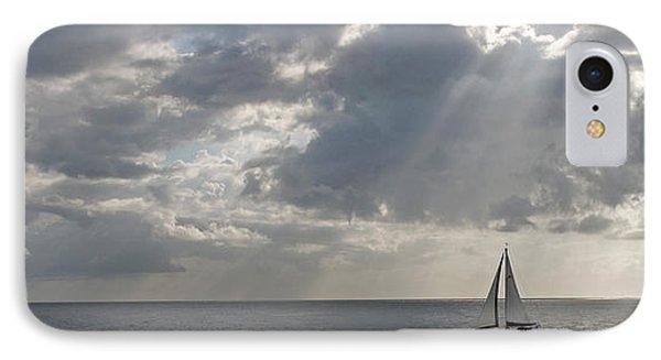 Sailboat In The Sea, Negril, Jamaica IPhone Case