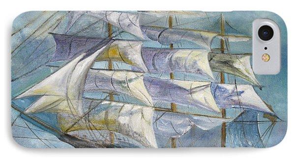 Sailboat At Sea IPhone Case