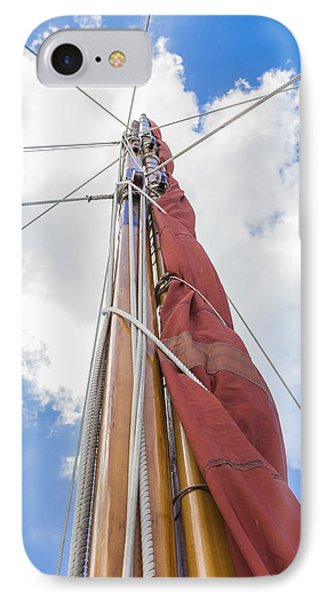 Sailboat Mast 2 IPhone Case by Leigh Anne Meeks