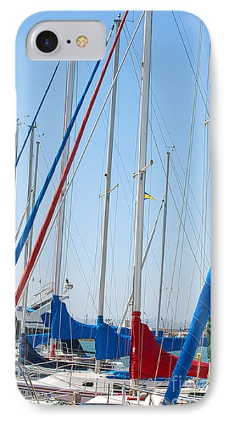 Sailboat Masts Phone Case by Artist and Photographer Laura Wrede