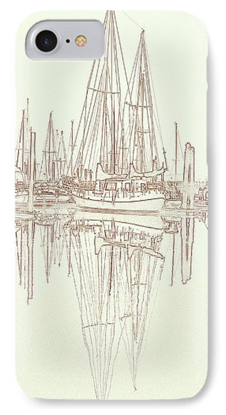 IPhone Case featuring the photograph Sailboat On Liberty Bay by Greg Reed
