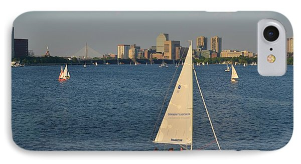 Sailboat On The Charles River IPhone Case by Toby McGuire