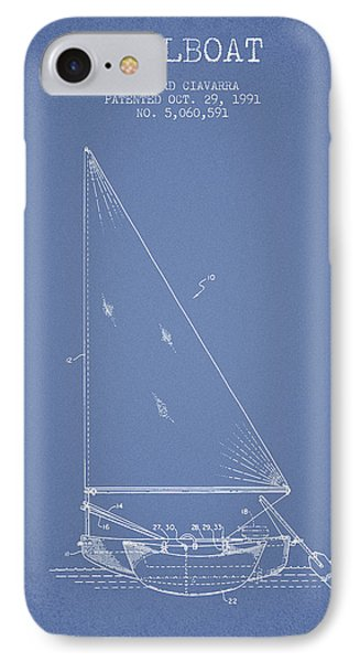 Sailboat Patent From 1991- Light Blue IPhone Case