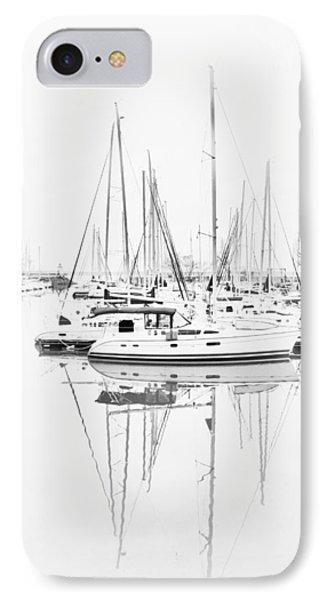 Sailboat Row  B/w Hi-key IPhone Case