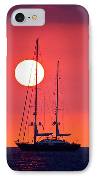 Sailboat Sunset IPhone Case by Venetia Featherstone-Witty