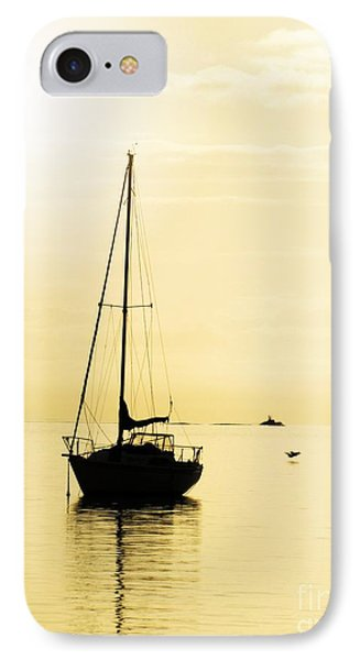 Sailboat With Sunglow Phone Case by Barbara Henry
