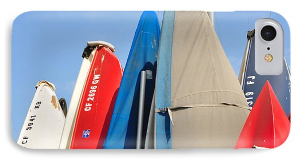 IPhone Case featuring the photograph Sailboats At Rest by Vinnie Oakes