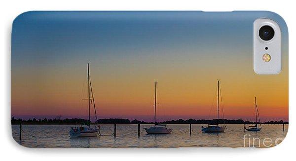 Sailboats At Sunset Clinton Connecticut IPhone Case